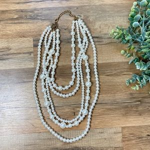 Jewelry - Chunky Layered Faux Pearl Necklace